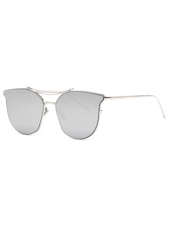 new Pilot Cat Eye Mirrored Sunglasses - SILVER