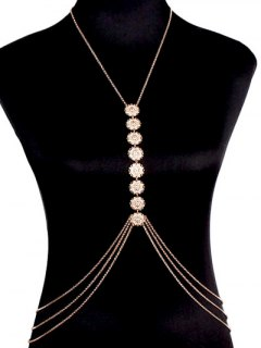 Sequins Body Chain - Golden