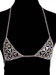 Bra Triangle Body Chain - Silver