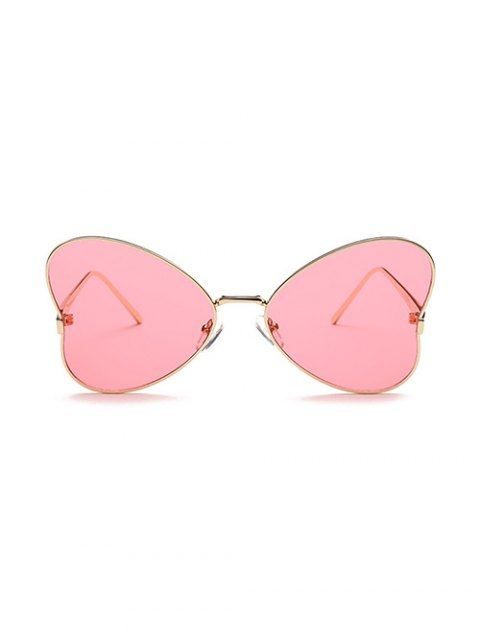 latest Heart Shape Trendsetter Sunglasses - RED  Mobile