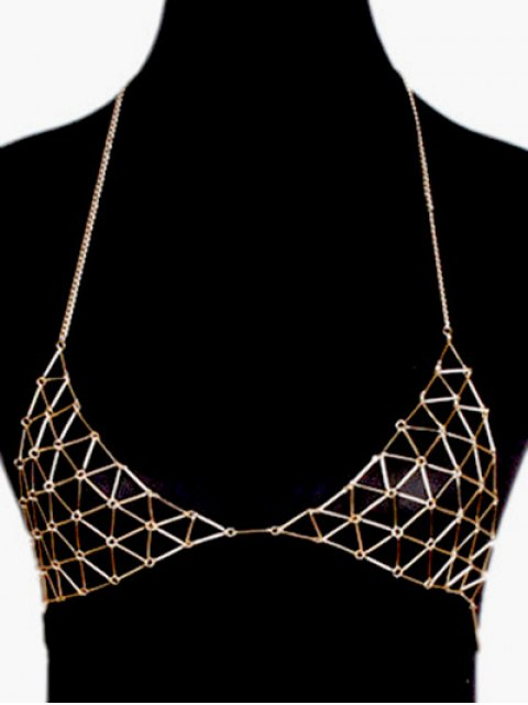 outfit Triangle Bra Body Chain - GOLDEN  Mobile