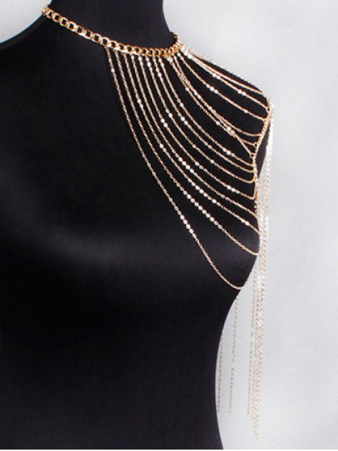 shop Hollow Out Body Chain - GOLDEN  Mobile