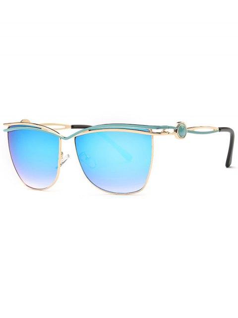 chic Crossbar Mirrored Sunglasses - BLUE  Mobile