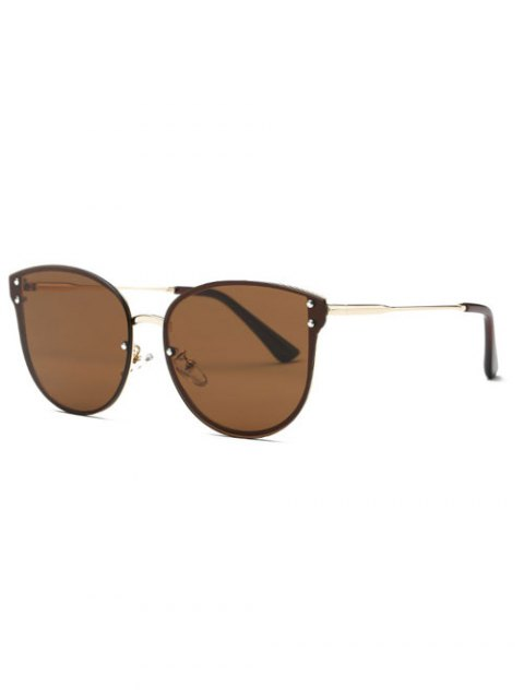 women's Frameless Oversized Sunglasses - COFFEE  Mobile