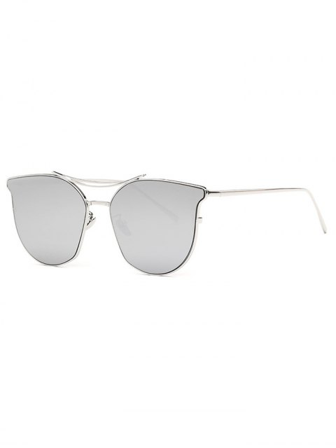 new Pilot Cat Eye Mirrored Sunglasses - SILVER  Mobile