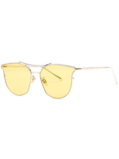 outfits Full Frame Pilot Sunglasses - YELLOW  Mobile