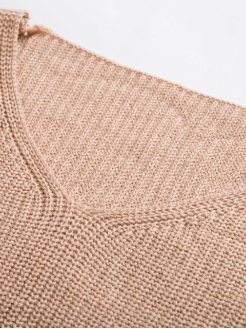 womens Zippered Cropped Jumper With Choker - NUDE ONE SIZE Mobile