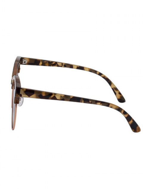 lady Hawksbill Frame Polarized Sunglasses - TEA-COLORED  Mobile