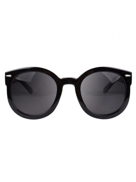best Simple Black Frame Sunglasses - GRAY  Mobile