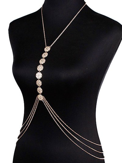 Sequins Body Chain - GOLDEN  Mobile