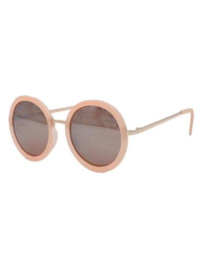 Retro Pink Round Mirrored Sunglasses