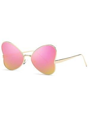 Heart Shape Mirrored Sunglasses - Purple