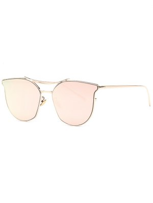 Pilot Cat Eye Mirrored Sunglasses - Rose Gold