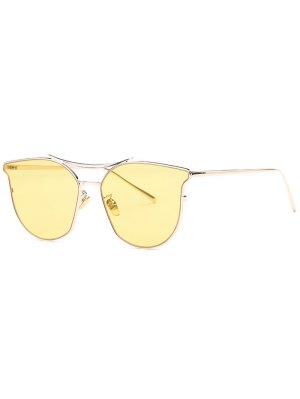 Full Frame Pilot Sunglasses - Yellow