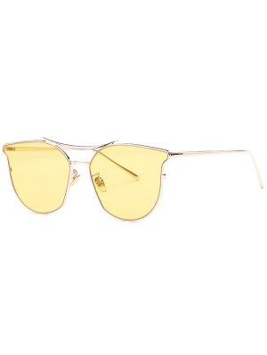 Full Frame Pilot Sunglasses - Yellow