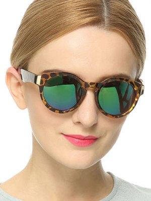 Leopard Frame Mirrored Sunglasses - Leopard