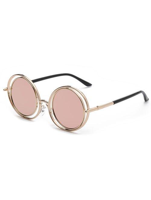Pink Round Mirrored Sunglasses 190251001