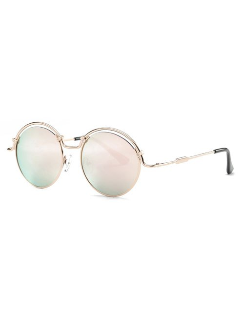 Vintage Pink Wire Frame Mirrored Sunglasses
