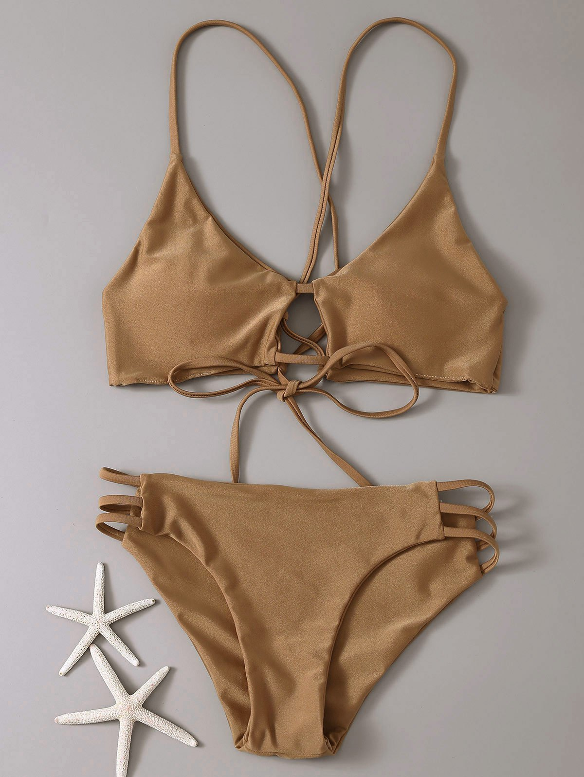 Cami Solid Color Bikini Set 189542303