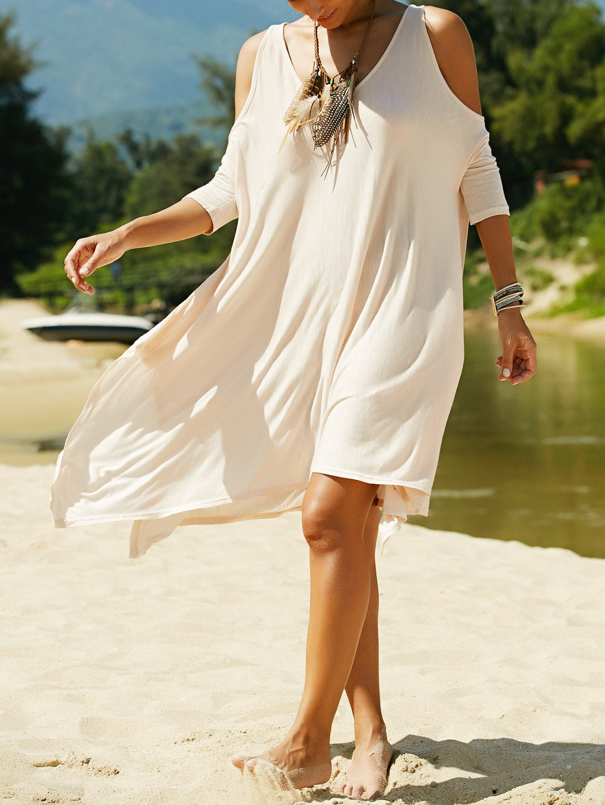 Cutout Irregular Hem Dress