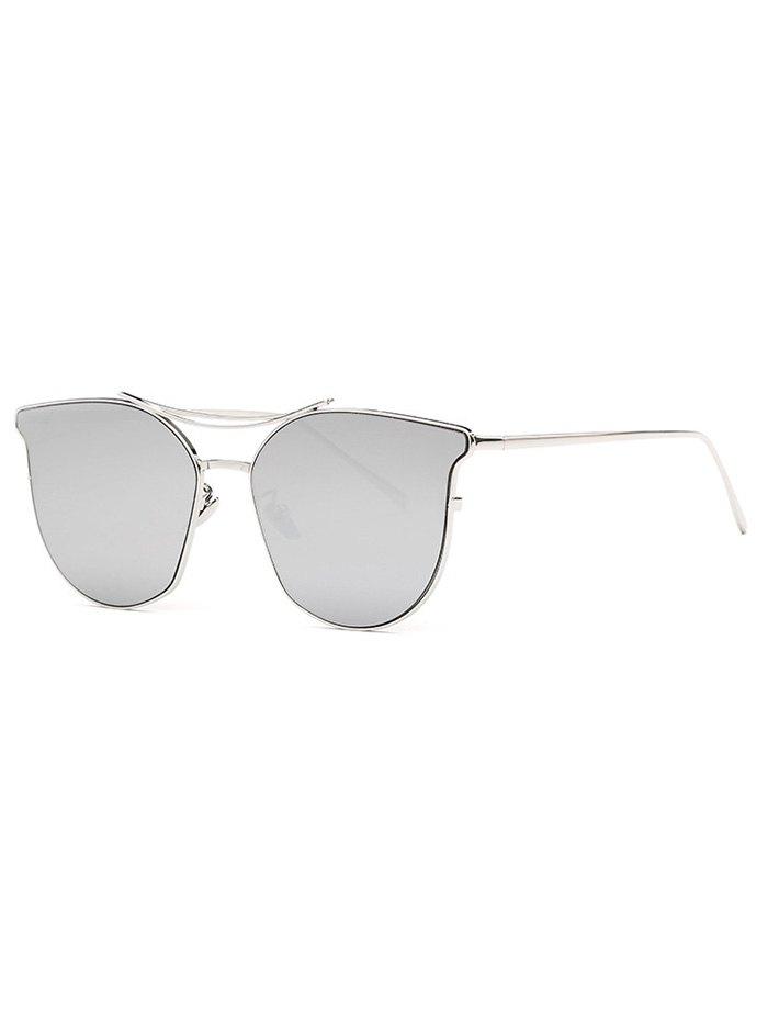 Pilot Cat Eye Mirrored Sunglasses