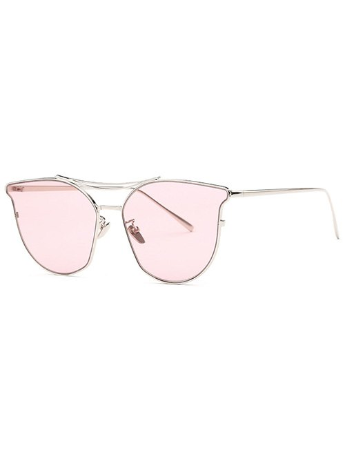 Full Frame Pilot Cat Eye Sunglasses