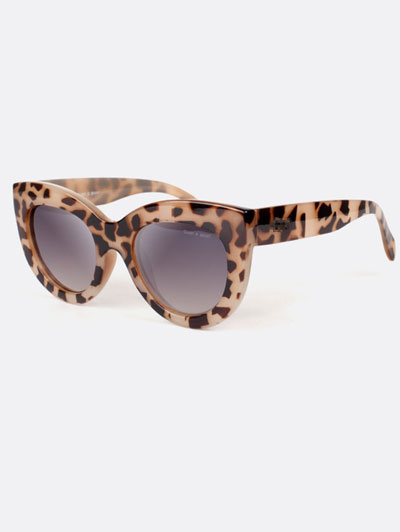 Leopard Pattern Frame Cat Eye Sunglasses