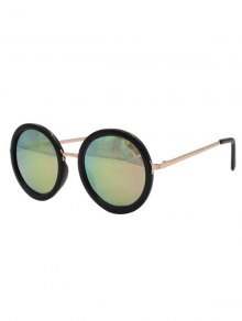 Colorful Round Mirrored Sunglasses