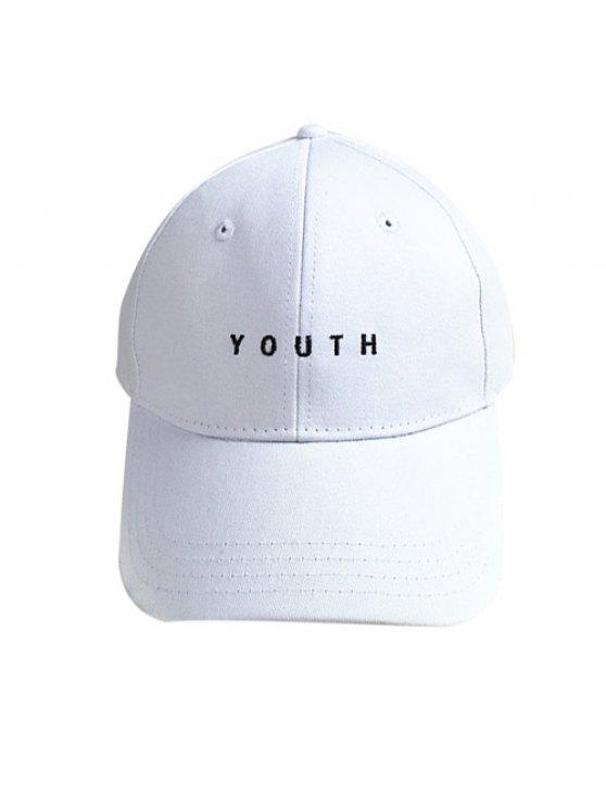 shops Letter Baseball Cap - WHITE