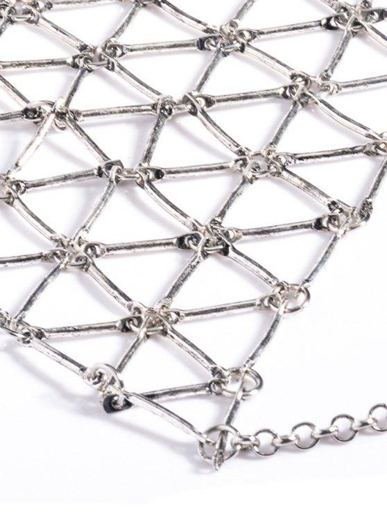 Triangle Body Chain - SILVER  Mobile