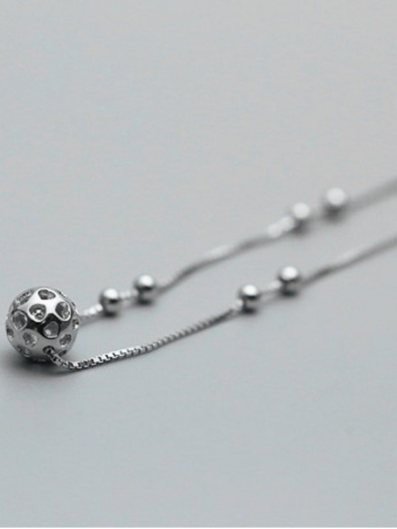 Hollowed Ball Anklet - SILVER  Mobile