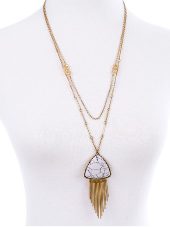 shop Fringle Layered Necklace - PLATINUM