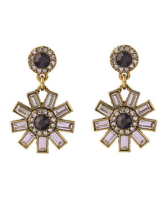 affordable Gaux Gem Flower Earrings - GOLDEN