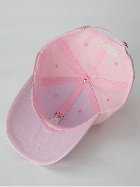 Heart Gesture Embroidery Baseball Cap - PINK  Mobile