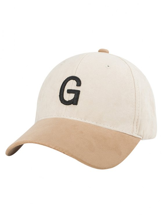 trendy Letter Embroidery Suede Baseball Cap - OFF-WHITE