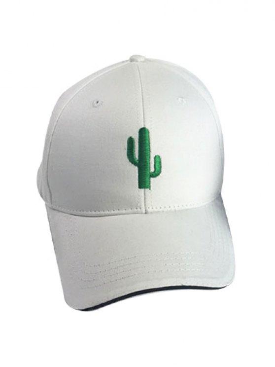 Cactus White Baseball Cap - WHITE  Mobile