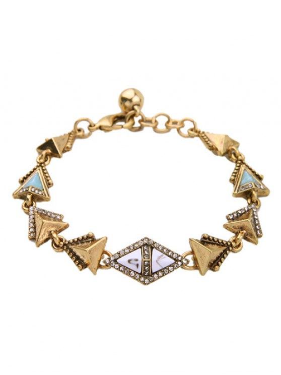 Pulsera de diamantes de imitación Triángulo - Dorado