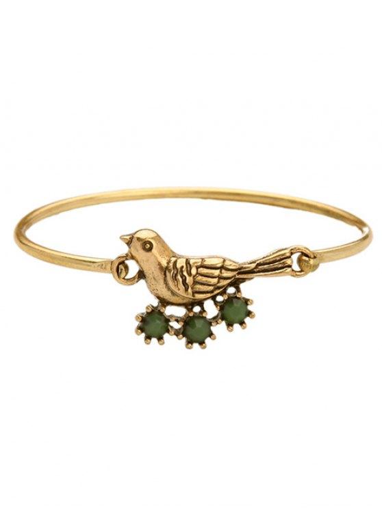 Bird Rhinestone Bracelet - GOLDEN  Mobile