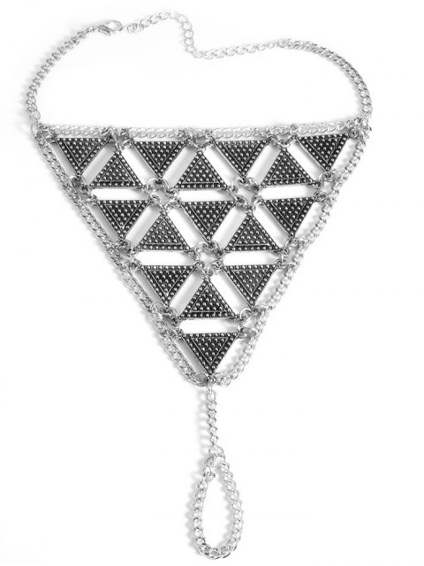 ladies Alloy Triangle Anklet -   Mobile