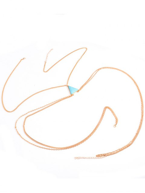 trendy Triangle Faux Turquoise Body Chain -   Mobile