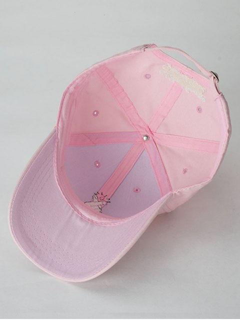 outfit Heart Gesture Embroidery Baseball Cap - PINK  Mobile
