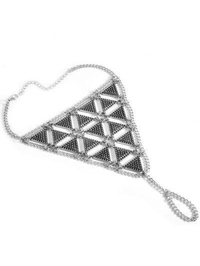Alloy Triangle Anklet - SILVER  Mobile