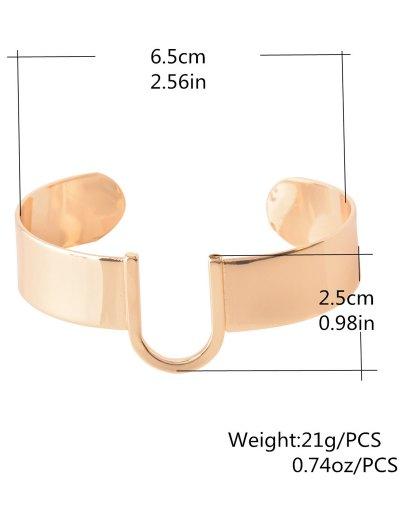 U-Shaped Cuff Bracelet - GOLDEN  Mobile