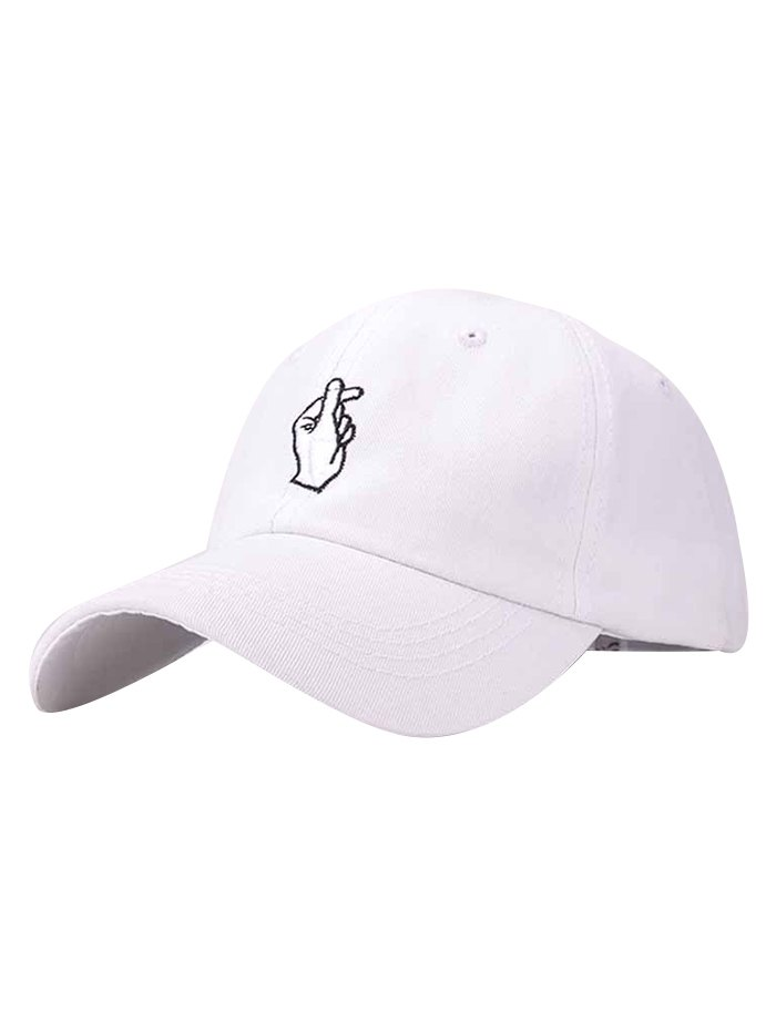 Love Gesture Embroidery Baseball Cap For Women
