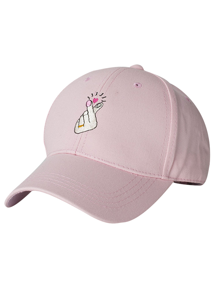 Heart Gesture Embroidery Baseball Cap