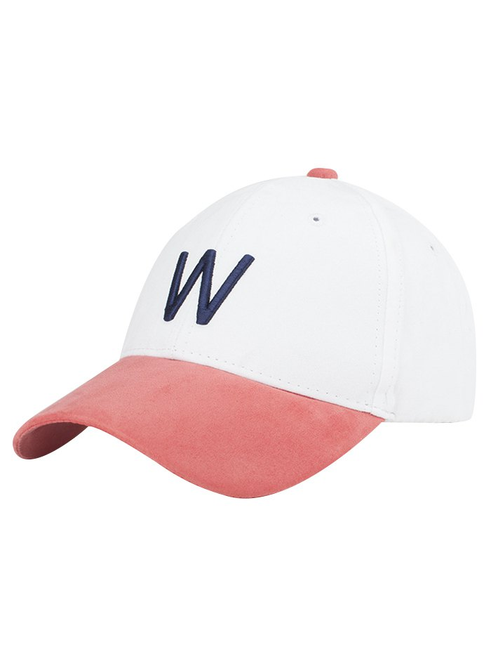 Letter Embroidery Suede Baseball Cap