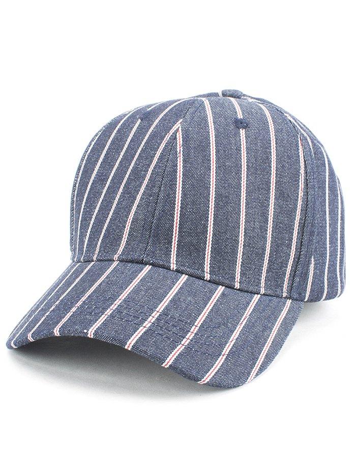Vertical Stripe Baseball Cap For Women