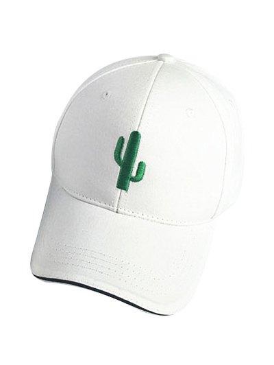 Cactus White Baseball Cap For Women