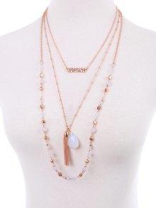 Teardrop Fringe Layered Necklace