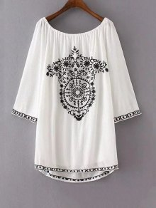 Ethnic Embroidery Casual Dress